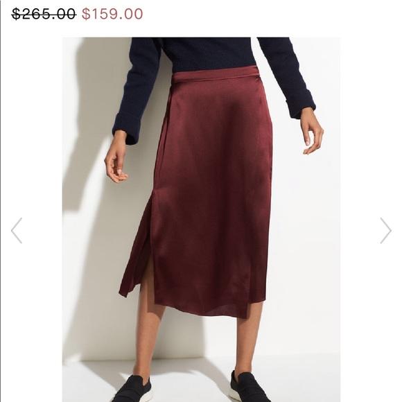 574dee8e62 Vince Skirts | Merlot Drape Panel Silk Skirt | Poshmark